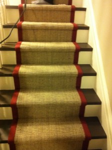 Natural Jute and sisal Carpet Runner for stairs Installation Toronto