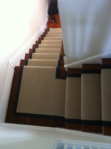 average cost of a carpet stairs and landing and Installation