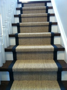 sisal with blue binding