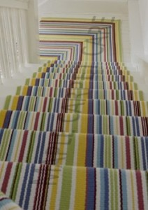 striped runner installation
