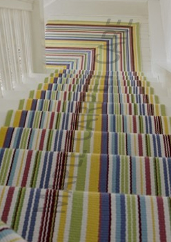Striped Stair Runner Toronto Wool