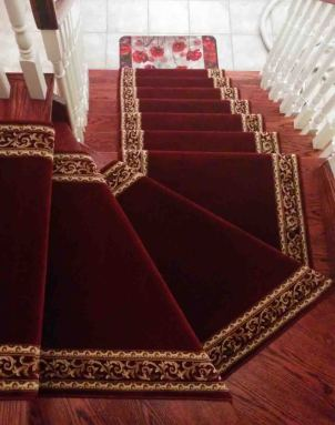 Oriental Red Carpet Runner on Staircase in Toronto