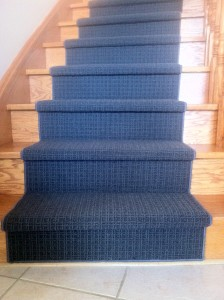Grey Carpet Runner for stairs in Toronto ontario